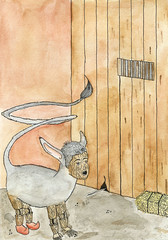Pinocchio Illustration - When He Becomes a Donkey