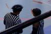 Love this ref's mohawk helmet! Charlotte Roller Girls Roller Derby!