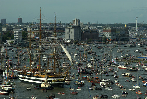 """Amerigo Vespucci"" on Sail parade during Sail Amsterdam"