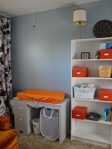 Changing table and shelf