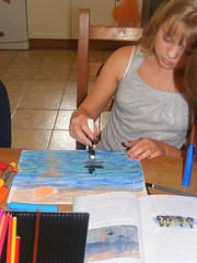 Art day with the Puddle Chicks 006