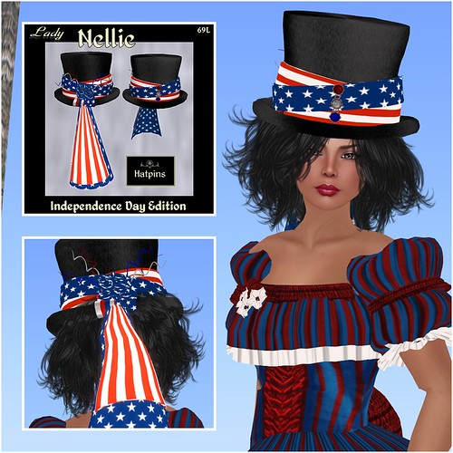 Hatpins - Lady Nellie - Independence Day