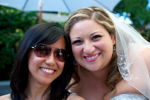 me with the bride!