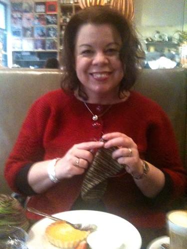 Knitting at the Dispensary
