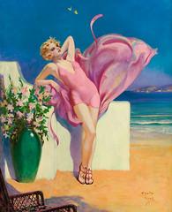 HENRY O'HARA CLIVE Seaside Flirtation, calenda...