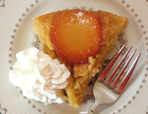 Day 200 - Tuesday, July 20th 2010 - Cornmeal-Peach Upside-Down Cake