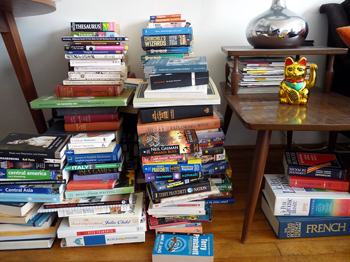 and the book pile grows