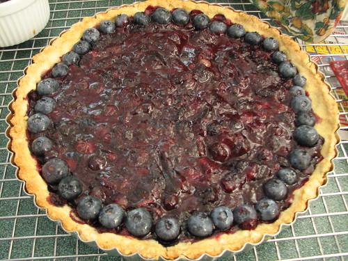Adding fresh berries