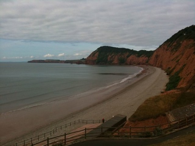 Bay at Jacobs ladder sidmouth Devon Aug 8 2010