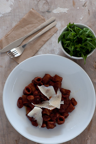 pasta & butter beans with red wine