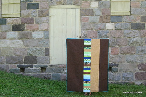 Back of the stacked coins quilt