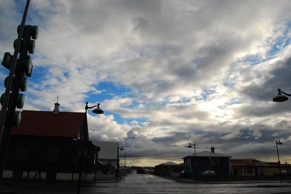 Calles desiertas en Keflavík