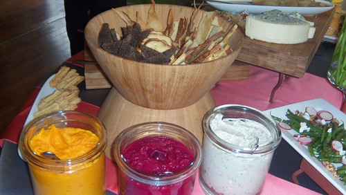 Spreads at Word of Mouth Catering Wedding Tasting