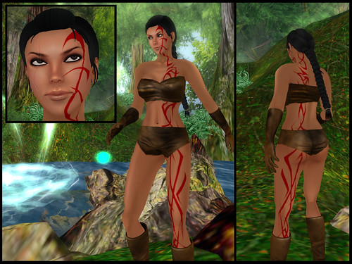 female barbarian - skin details