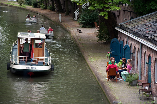 View on the 'Oude Gracht' in Utrecht
