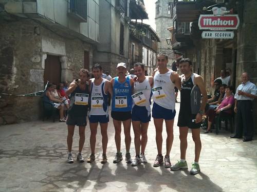 José Luis Capitán, Martín, Abraham (el fisio), Solares, Manu y Vicente Capitán