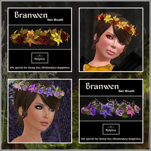 Hatpins - Branwen Wreaths - HDH