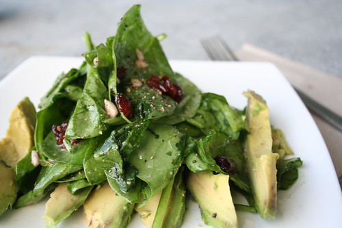 Spinach Salad with Cranberries and Avocado