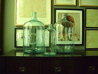 glass bottle display