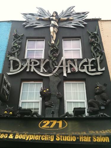 Dark Angel Tattoo and Body Piercing, Camden, London angel tattoos