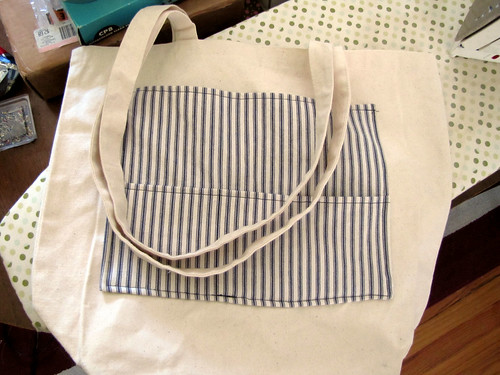 Tote bag makeover in progress