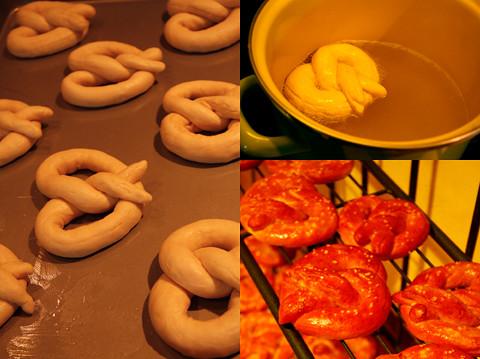 pretzels in process