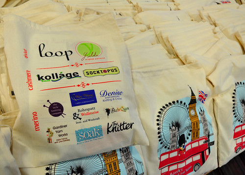 Knit Nation bags- Sponsor logos!