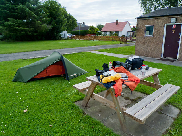 Packing away at the Annan campsite