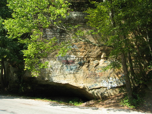 Rock formation on Spout Springs Road