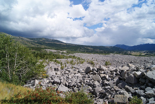 Frank Slide rubble