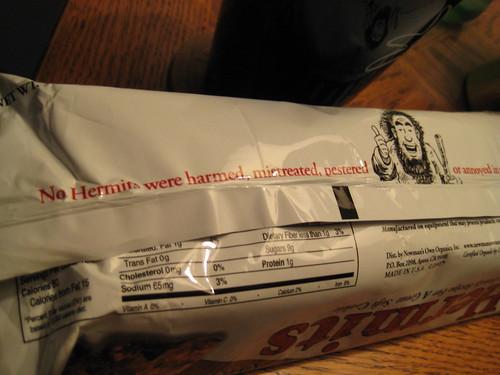 Hermits Newman's Own Organics