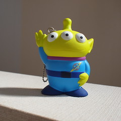 Little green men figure