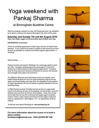 Panjaj Yoga Poster 2010