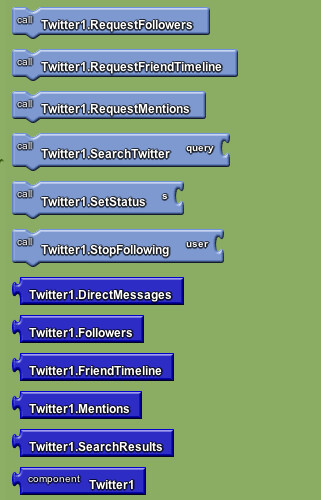 Google app inventor - twitter 2