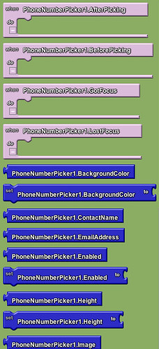 Google app inventor - phone number picker 1