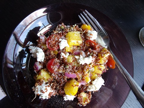 Red Quinoa Salad with Lemon Goat's Cheese