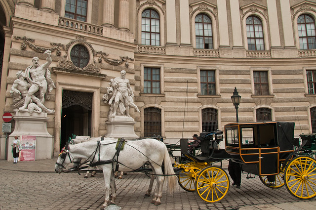 Carriages outside the Hapsburg Palaces