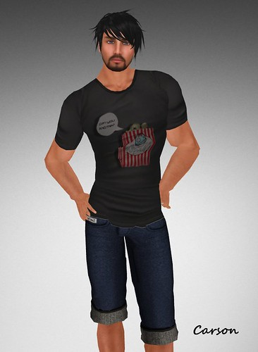 Zombie Popcorn t-shirt DeeTalez Loose short Jeans