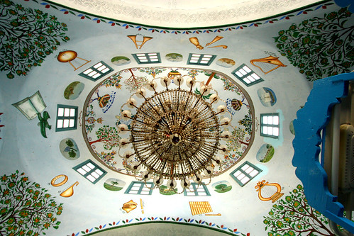 Painted Synagogue Ceiling