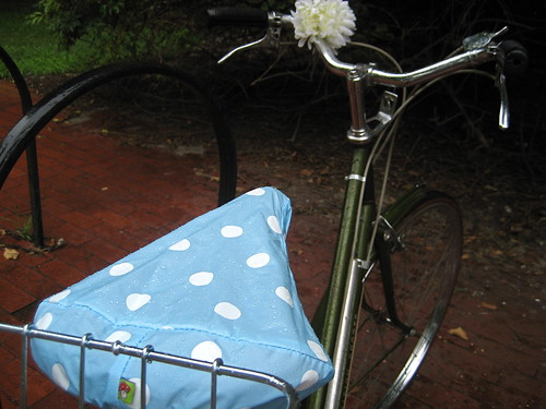 Rain cover for bike saddle...