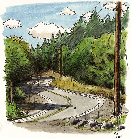 mountain road near roseburg, oregon