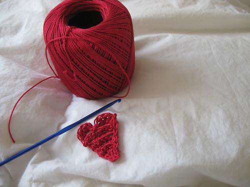 heart garland - wip