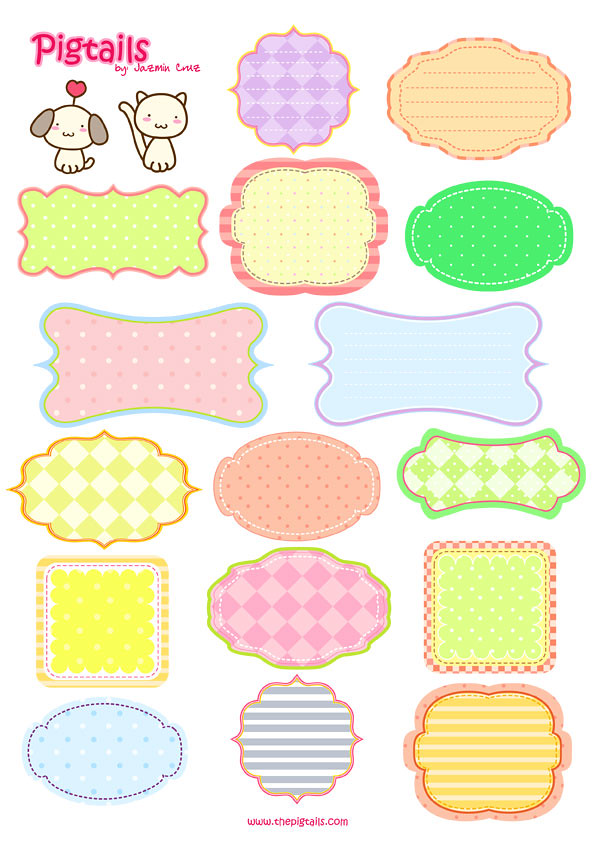 Pigtails Scrapbook Background And Tags Pigtails By Jazmin Cruz