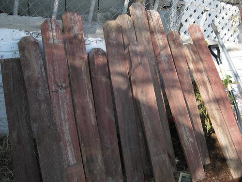 Fence Posts Begging for a DIY