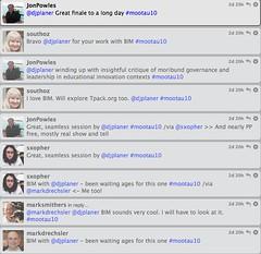 Twitter feedback on Moodlemoot'AU BIM presentation