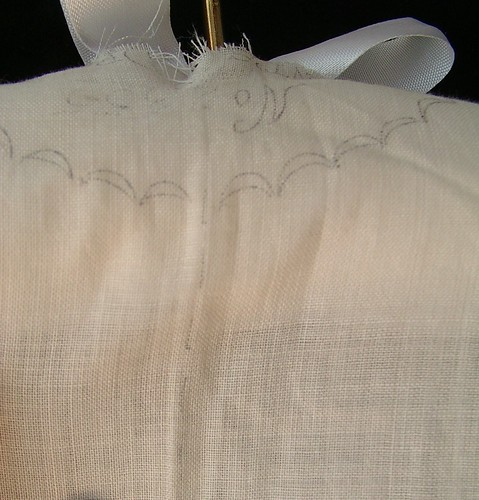 back of neck showing lines for cutting