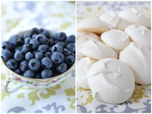 Blueberries and Pavolova