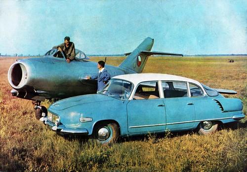 Tatra 603 and Mig 15