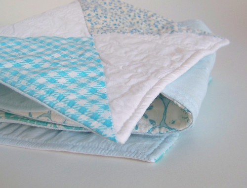aqua patchwork tablerunner
