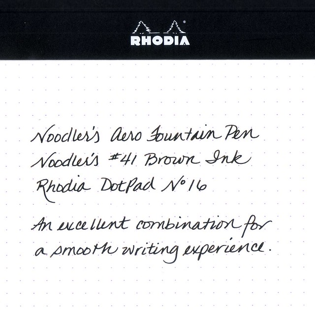 Noodler's Fountain Pen Writing Sample